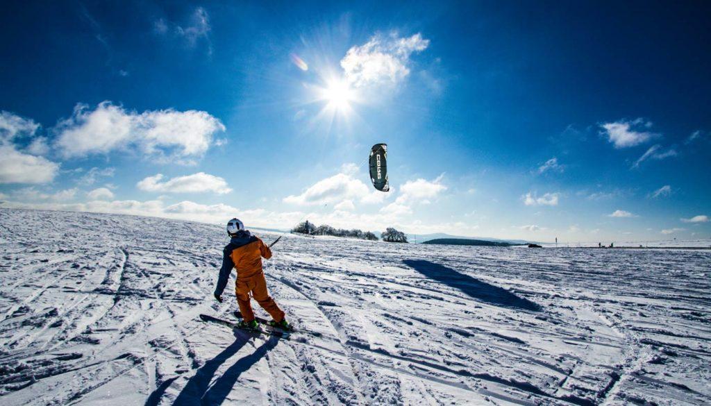 Snowkiting Wasserkuppe Rhön